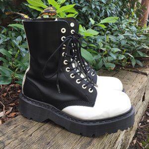 VTG Dr Martens England Steel Toe Combat Boots RARE